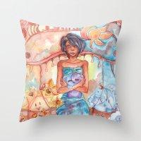 libra Throw Pillows featuring Libra by Trenita