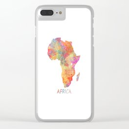 Africa map 2 Clear iPhone Case