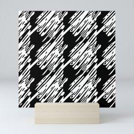 Black & White Scribble Pattern Mini Art Print
