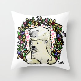 Polar Bears Throw Pillow