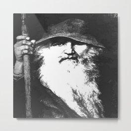 Scandinavian Mythology the Ancient God Odin Metal Print