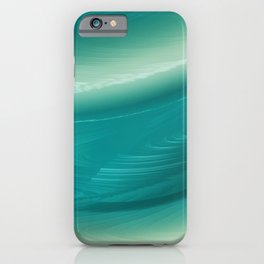 Aqua Ripples iPhone Case