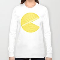 pac man Long Sleeve T-shirts featuring Pac-Man Typography by Kody Christian