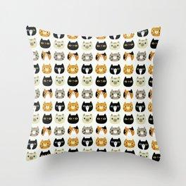 Lucky Kitties Throw Pillow
