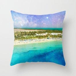 Cosmic Tropics Throw Pillow