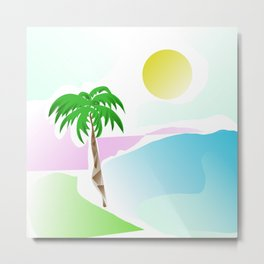 Tropical summer design Metal Print