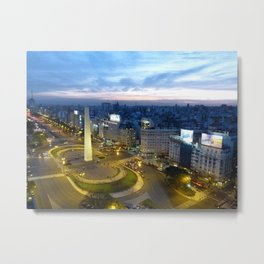 Buenos Aires Obelisco Metal Print