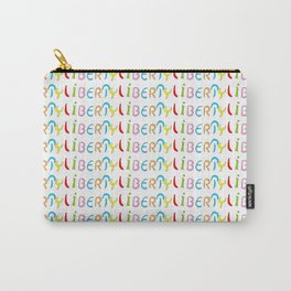 liberty 1-freedom,free,good,licence,joyy,choice,open,unrestricted,vacant,freed,large Carry-All Pouch