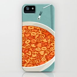 Social media soup, conceptual illustration iPhone Case