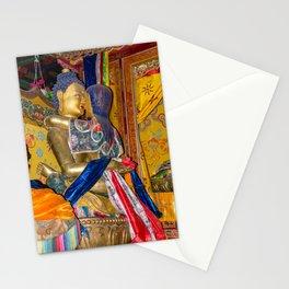 Statue of Buddha in love in Samye monastery, Tibet Stationery Cards