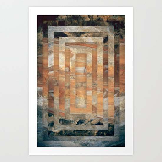 Cave abstraction Art Print