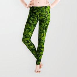 Green Leaves Pattern Leggings