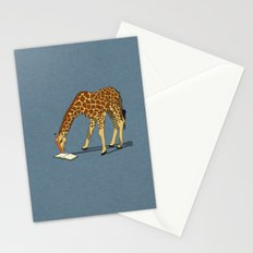 Reading Giraffe Stationery Cards