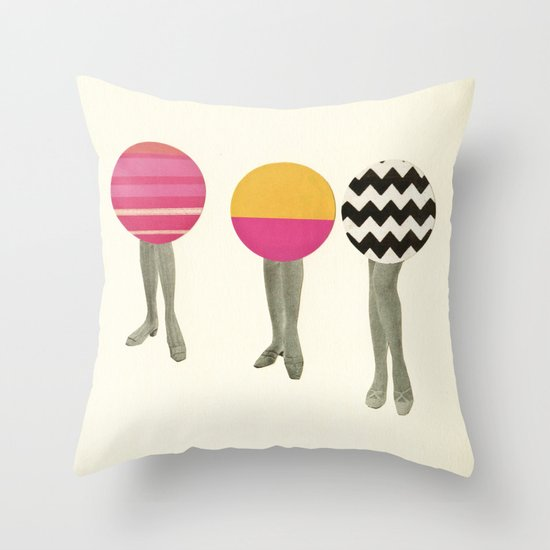 Dancing Feet Throw Pillow