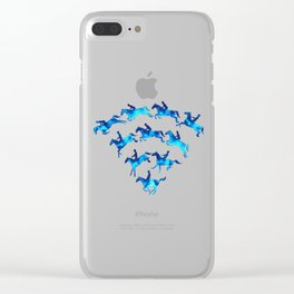 Connected to Showjumping (Blue) Clear iPhone Case