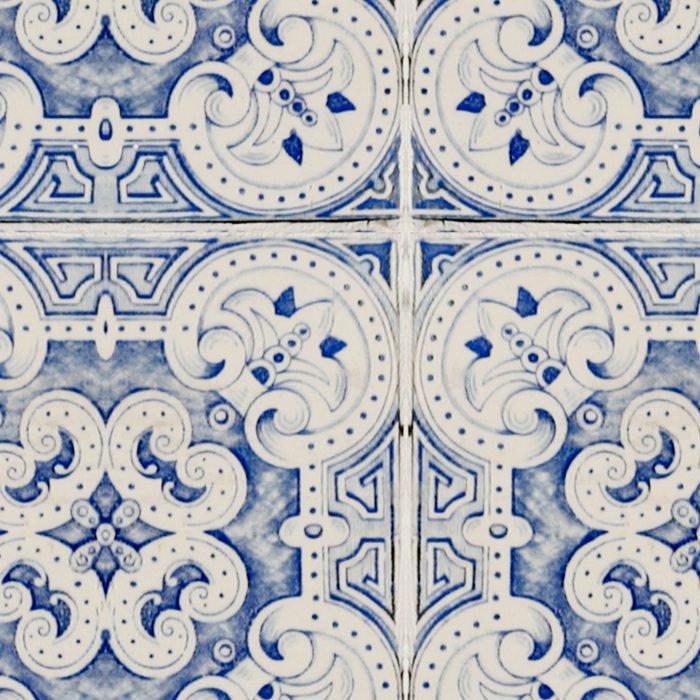 Vintage blue tiles pattern Leggings