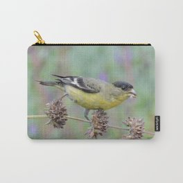 Lesser Goldfinch Snacks on Seeds Carry-All Pouch