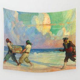 """""""Absconding With The Treasure"""" by NC Wyeth Wall Tapestry"""