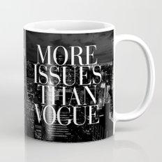 More Issues Than Vogue Black and White NYC Manhattan Skyline Mug