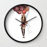 ballon Wall Clocks featuring Le Ballon // Birthday IV by annabours
