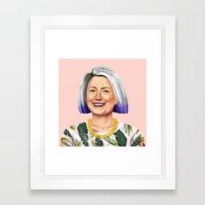 Hipstory - Hillary Clinton Framed Art Print