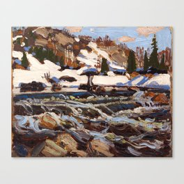 Tom Thomson - Rapids Canvas Print