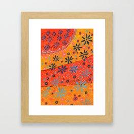 Sunset of Flowers Framed Art Print
