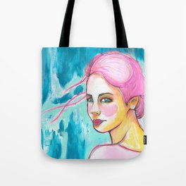 Electric Pink Girl Farewell Tote Bag