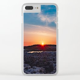 Surise on the sea Clear iPhone Case