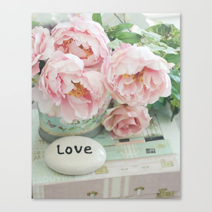 Pink Peonies Shabby Chic Cottage Peony Love Floral Prints Home Decor
