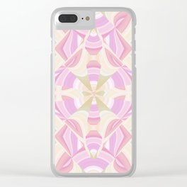 Abstract Moon Lotus YY Clear iPhone Case