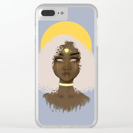 Cloudy Baby Clear iPhone Case