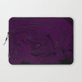black and purple swirls  Laptop Sleeve