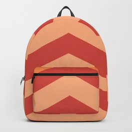 Red Orange Waves Backpack