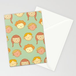 happy little faces. Stationery Cards