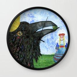 Crow King's Bride Wall Clock