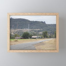 Old Country road Framed Mini Art Print