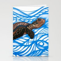turtle Stationery Cards featuring Turtle by Lonica Photography & Poly Designs