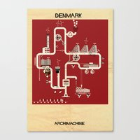 denmark Canvas Prints featuring Denmark by federico babina
