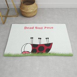 Dead Bug Yoga Pose Rug