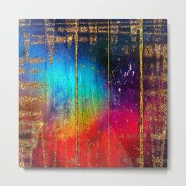 Rainbow Wood Texture  Metal Print