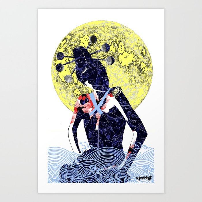Cancer (Zodiac Series 1) Art Print