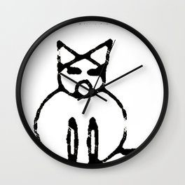Fat Cat Wall Clock