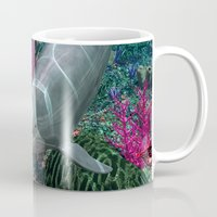 dolphins Mugs featuring Dolphins by Simone Gatterwe
