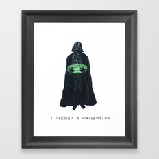 Vader Carries A Watermelon Framed Art Print