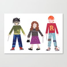 Harry, Hermione, and Ron Canvas Print
