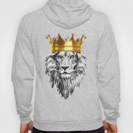 lion with a crown power king Hoody