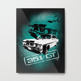 Ford Falcon XY GTHO Phase III (Grunge) Metal Print