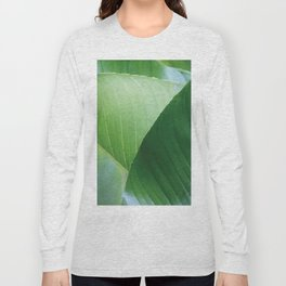 Big Banana Leaves green Long Sleeve T-shirt