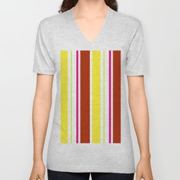 Stripes in colour 4 Unisex V-Neck